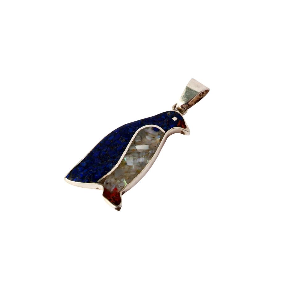 colgante - pinguino - ag ll mp - 0051mg